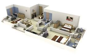 fancy three bedroom home plans 2 garage under with 3 house double pdf of