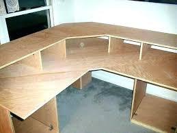 corner desk plans computer how simple to make a desks for home design