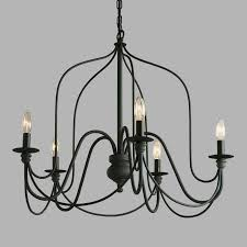 living elegant black modern chandelier 9 dining room decorating ideas kitchen rod iron light contemporary fixtures