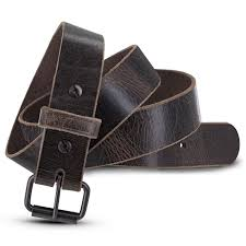 thick leather belt larger image