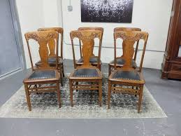 antique carved back dining chairs. antiques by design - solid quarter sawn oak press back dining chairs antique carved