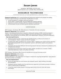 Lab Technician Resume Beautiful Entry Level Chemistry Lab Technician