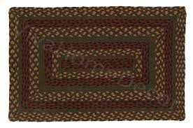 ihf rustic retreat jute braided rectangular area rug brown red and green rugs