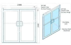 standard glass shower door size opening sizes south frameless