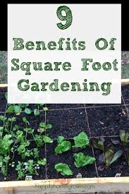 9 benefits of square foot gardening