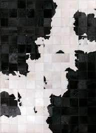 holstein cowhide rug by mosaic rugs luxury handcrafted black white patchwork cowhide rug