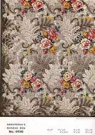 linoleum rug brown flower vintage flooring patterns rugs from