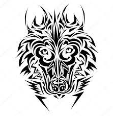 волк трайбл тату волк тату стиль векторное изображение Lindwa
