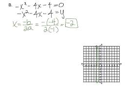 9 5 solving quadratic equations by graphing you