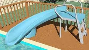 Image Swimming Pool Safari One Above Ground Pool Slide Swimming Pool Slides Above Ground Swimming Pool Slides For Sale