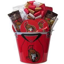 nhl ottawa senators hockey mania gift basket