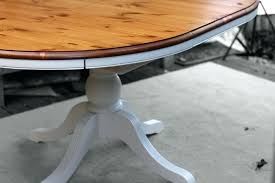 round pine table treatment