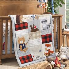 Little Campers Nursery Baby Crib Bedding Collection - Lambs & Ivy