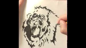 нарисовать льва как нарисовать тату эскиз льва Drawing Tattoo Sketch Lion