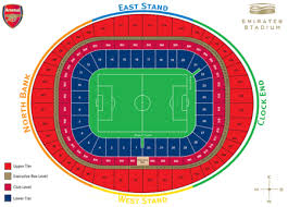 Uk Football Stadium Seating Chart Emirates Stadium Seating Plan The Club News Arsenal Com