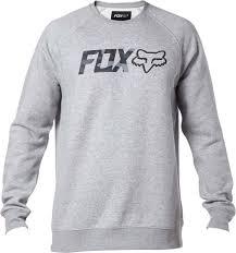 fox legacy crew sweatshirt clothing hoos pullover casual grey fox mtb jersey fabulous