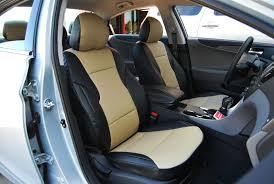2016 hyundai sonata s leather seat cover color black and beige