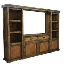 Image Is Loading CopperWallUnitandTVStandEntertainmentCenter Rustic Entertainment Center E21