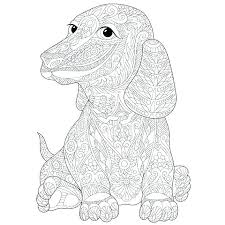Dachshund Coloring Pages Combined With Free And Dog Dachshun