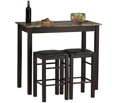 fancy tall bar tables and stools  with additional decoration
