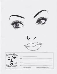 Face Charts To Print 338 Best Face Chart Images Face Makeup Face Charts
