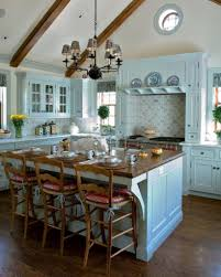 Country Kitchen With Island The Different Shapes Of Large Kitchen Island Designs For