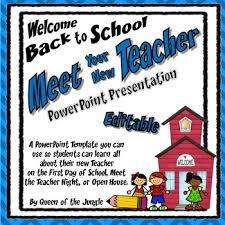 Teacher Powerpoint Back To School Meet The Teacher Editable Powerpoint Template Tpt
