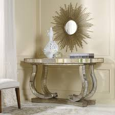 modern mirrored furniture. Console Table Design, Mirrored Oval Silver Mirror Tabl With Curved Legs And Round Wall Furniture Modern C