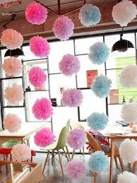 Tissue Paper Flower Decor New 15pcs 25cm Ball Tissue Paper Flower Wedding Party Stage