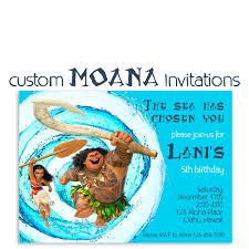 Moana Birthday Invitation Custom Hawaiian Princess Party Maui.