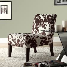 Printed Chairs Living Room Oxford Creek Contemporary Moo Print Accent Chair Home