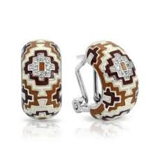 aztec brown cream earrings by belle etoile fall fashion fall colors