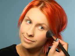 applying foundation for mermaid makeup tutorial