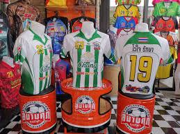 เสื้อฟุตบอลพิมพ์ลาย สีเขียวสวยๆ ทีมเต่าเทอร์โบ   สนามศุภ ชุดกีฬา 081-3180030