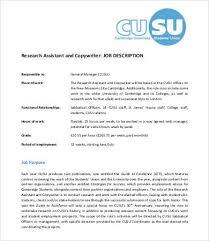 research assistant copywriter job description copywriter job description