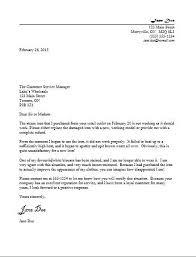 Template For A Letter Of Complaint Business Letter Complaint