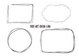 シンプル系ベクターフレームセット01 Free Art Sozai Log