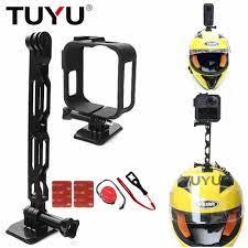 TUYU für Gopro max panorama kamera helm halterung bike motorrad reiten  feste für Insta 360 helm montage zubehör Sports Camcorder Cases