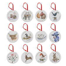 Royal Worcester Wrendale 12 Days of Christmas Decorations - Royal Worcester  UK