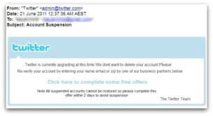 Spam Account Twitter Account Suspension Spam Could Lead To Data Loss