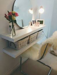 Lack hack with two shelves and cubbies inside for storing makeup