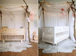 Shabby Chic Style Nursery In White And Pastel Pink