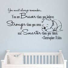 Winnie The Pooh Vinyl Sticker Christopher Robin Wall Decals Quotes