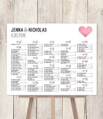 Seating Chart In Alphabetical Order Alphabetical Seating Chart Sign Diy Wedding Seating Chart