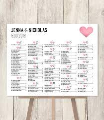 Wedding Alphabetical Seating Chart Alphabetical Seating Chart Sign Diy Wedding Seating Chart