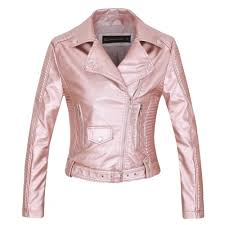 2019 women faux leather jacket casacos long sleeve pu coat black silver pink wine red white s xl motorcycle biker jacket drop ship from harrvey