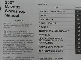 2007 mazda 5 mazda5 service repair shop workshop manual set w wiring 1 of 11 shipping 2007 mazda 5 mazda5 service repair shop workshop manual set w wiring diagram