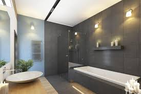 admirable wall lights on bathroom with freestanding tub with shower also sink vessel
