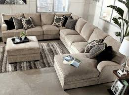 living room furniture ideas sectional. Ashley Furniture:Cosmo- Marble 3 Piece, RAF Sectional Sofa Chaise, Armless Love Seat \u0026 For The Basement Family Room Living Furniture Ideas C