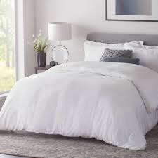 woven bamboo duvet cover set king white